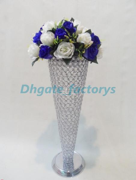 Großhandel Trompete Vase Hochzeits Mittel Blumen Standkristallkorn Pomander Stand Silber Oder Gold Von Dhgatefactorys 652 Auf Dedhgatecom