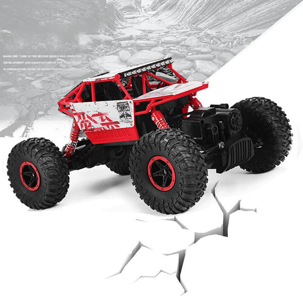 RC Car 2.4GHz Rock Crawler Rally Car 4WD Truck 1:18 Scale Off-road Race Vehicle Buggy Electronic Remote Control Model Toy