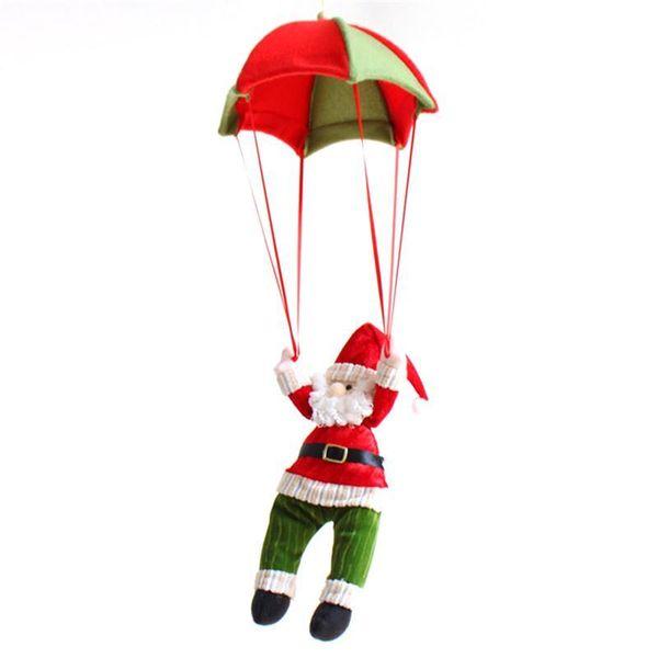 Decoración de Navidad para el hogar adorno muñeco de nieve paracaídas de navidad colgante de la muñeca colgante de año nuevo decoración juguetes de navidad