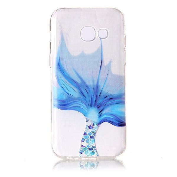 Guscio di pelle per Samsung Galaxy A3 A5 J3 J5 J7 2017 / S7 S7 Bordo S8 S8 Plus Xiaomi Redmi Note4 TPU IMD Custodia Morbida gomma di silicone Copertura del telefono in silicone