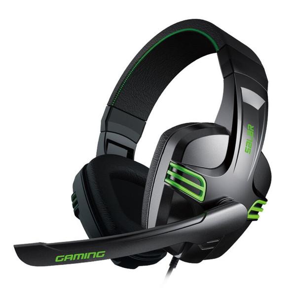 Ajustável 3.5mm Jogo Gaming Headphones Baixo Fone de Ouvido Estéreo com Microfone Com Fio para PC Computador Portátil
