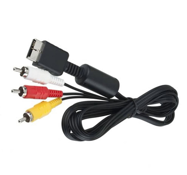 best selling 1.8 M RCA TV Audio to 3RCA Adapter Cable AV Cable Audio Video Cable for Sony Playstation 2 3 PS2 PS3 Multimedia 500pcs