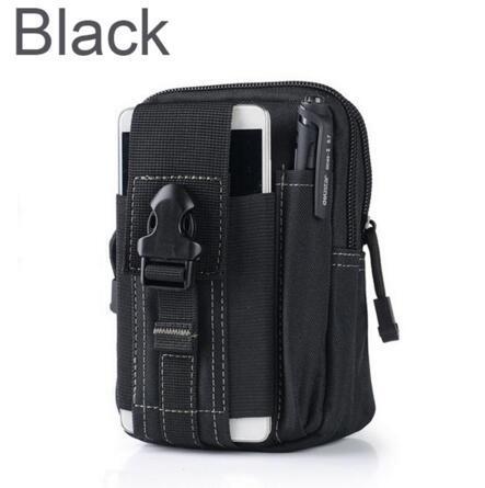 Cas de téléphone militaire de sac de ceinture de ceinture de taille de sac de militaire avec la fermeture éclair pour l'iPhone 7 pour Samsung / LG / HTC