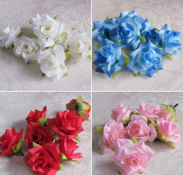 100pcs 5.5cm White Artificial Silk Camellia Rose Peony Home Decorative Flower Head Wedding Christmas