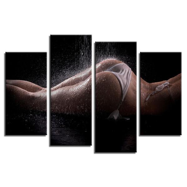 Sexy Girl HD Foto Leinwand Druck Benutzerdefinierte Home Wanddekoration Kunst Foto Leinwand Druck ungerahmt (30cmx60cmx2 30cmx80cmx2) Drop-Ship