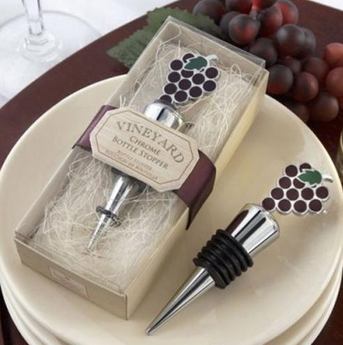 Bar ToolsFlaschenverschlüsse Hochzeitsbevorzugungen Küchenstil New Vineyard Trauben Wine Stopper Party Favors Geschenke Bar Tools Dining