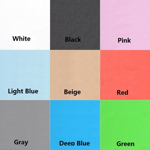 best selling Photography Studio Non-woven Backdrop Background Screen 1.6 x 3M   5 x 10FT Black White Green Blue 9 Colors for Chposing D2204