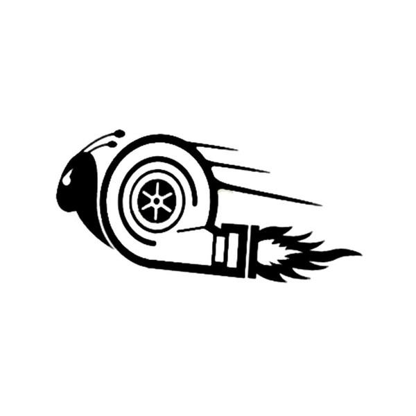Autocollants de voiture élégants DUB Drift Race Car Styling Turbo Escargot Cool Stickers Noir / Blanc