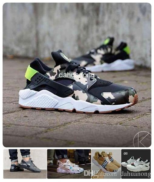 2016 chaussures nike Nouveau Design Huaraches Chaussures De Course Pour Femmes Hommes, Haute Qualité Air Huarache Célèbre Marque Custom Designer Sneakers 5.5-12 36-46