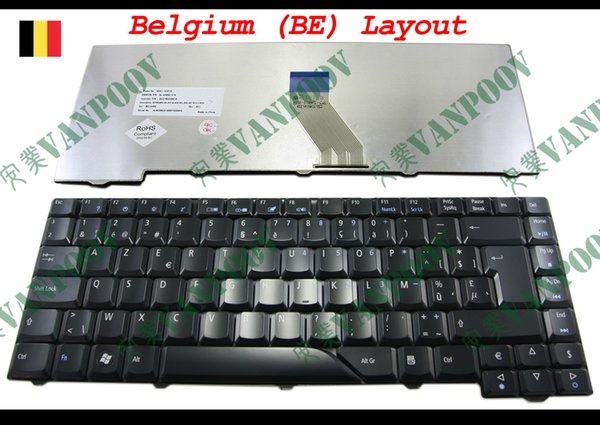 New Laptop keyboard for Acer Aspire 4230 4530 4710 4730 5520 5530 5535 5910 5930 6920 6935 Glossy Black Belgium BE - NSK-H391A