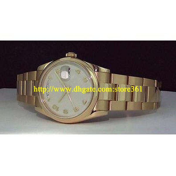 store361 new arrive watches Mens 36mm 18kt Gold - Cream Jubilee Arabic Dial 118208