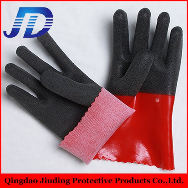 top popular Wholesale glove machine made in china ,pvc coated foam heavy industry safety working gloves with free samples from china supplier 2019