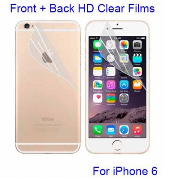 Cell phone Clear Screen Protectors Films Matte Anti-Scratch For iPhone X 8 6s plus 5S SE 5C Dustproof Front Back Protective film No Package
