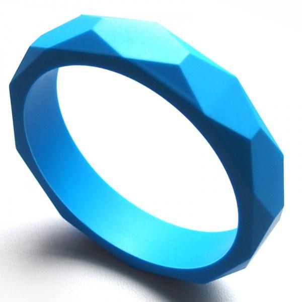 Silikon-Baby-Beißring-Diamant-Beschaffenheits-Armband-Zahnen-Schmucksache-Nahrungsmittelgrad-Silikon-Armbänder Weiche kaubare Baby-Spielwaren, die Schmucksachen pflegen