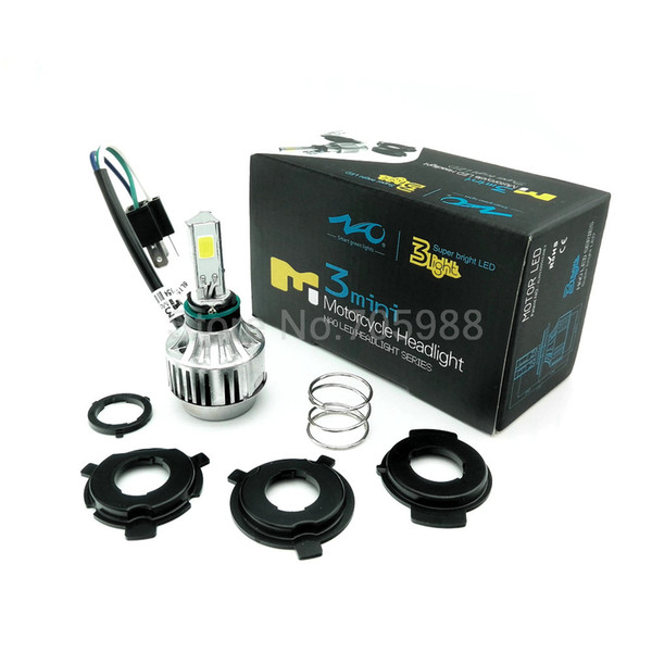 34W WHITE (amber) COB Motorcycle LED Headlight Motorbike headlamp LED Hi Low beam moto Conversion Kit H6 H4 BA20D kit led for honda suzuki