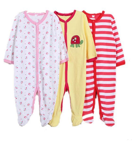 AbaoDo new arrival sleepsuit baby rompers 100% cotton infants bodysuit long sleeve kids clothing wear 3pcs/lot drop shipping