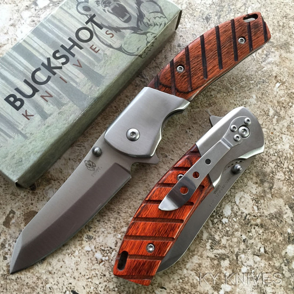 MZY BUCKSHOT Classic Stainless Steel Spring Assisted Open Pocket Knife NEW 8202-WD