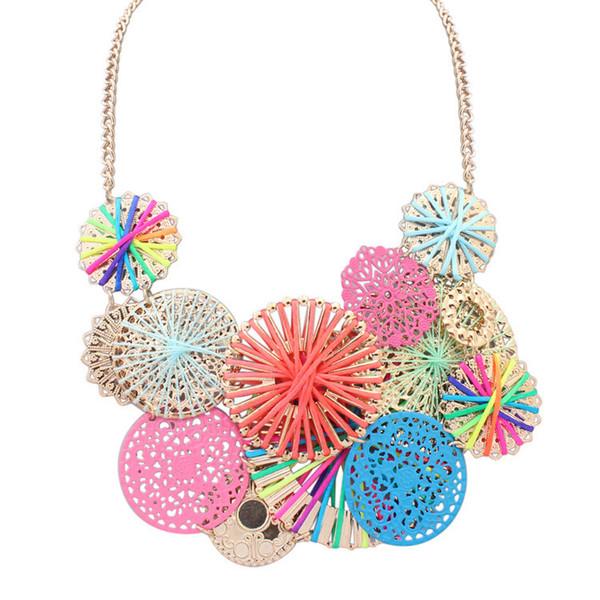 Mode niedlichen hohlen Blume Halskette Kette Schlüsselbein Legierung Schmuck Großhandel Hersteller