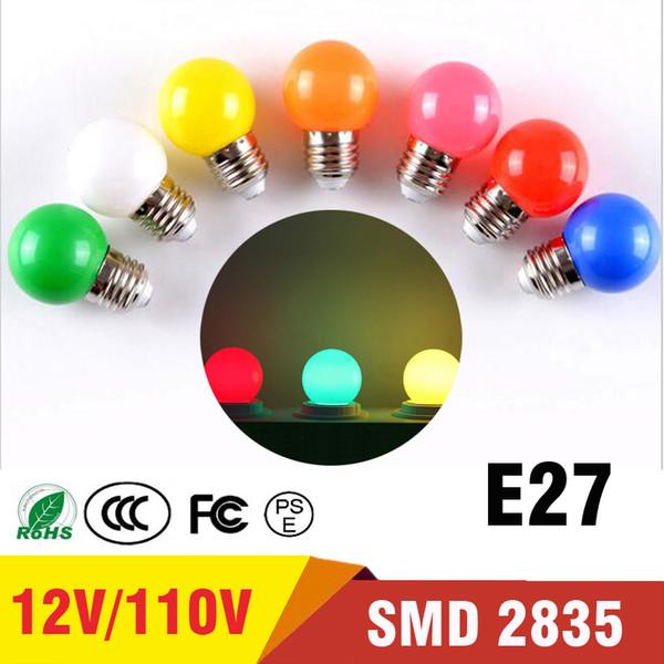 Ampoule Coloré E27 Led Bar Lumière Blanc Rouge Bleu Vert Jaune Orange Rose Lampe Lumière SMD 2835 Décor À La Maison Éclairage 110 V