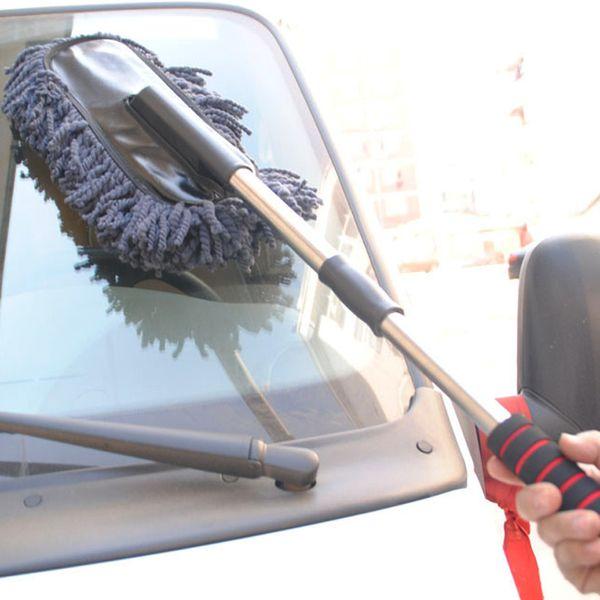 Toptan-Yeni Pratik Araç Temizleme Araçları Balmumu Fırça Oto Dış Geri Çekilebilir Yıkama Fırçası Araba Silgi Toz Wax Sürükle Uzun Saplı