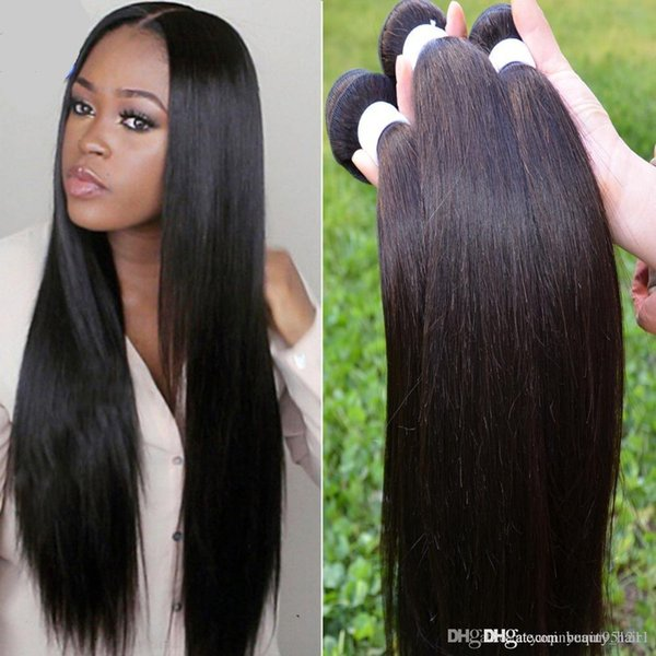 Cheap 5a Malaysian straight hair KBL hair products Malaysian naturehair straight 3 pcs 300g kinky straight human weaves 3,4,5pcs/lot