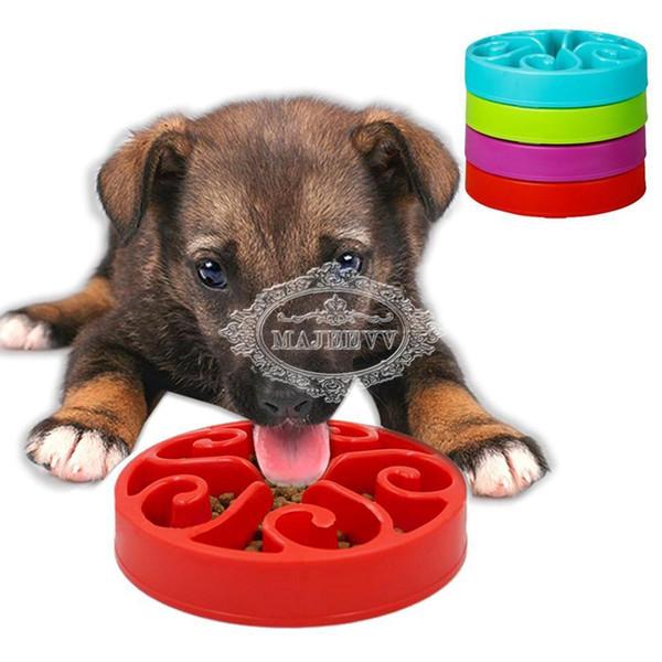 2019 Pet Puppy Dog Cat Slow Feeder Anti Slip Choke No Gulp Bloat Water Bowl  Feed Dish From Snoopy710, $16 48 | DHgate Com
