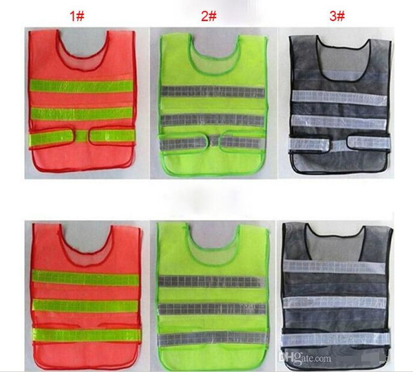 top popular 2017 Safety Clothing Reflective Vest Hollow Grid Vest High Visibility Warning Safety Working Construction Traffic Vest 2019