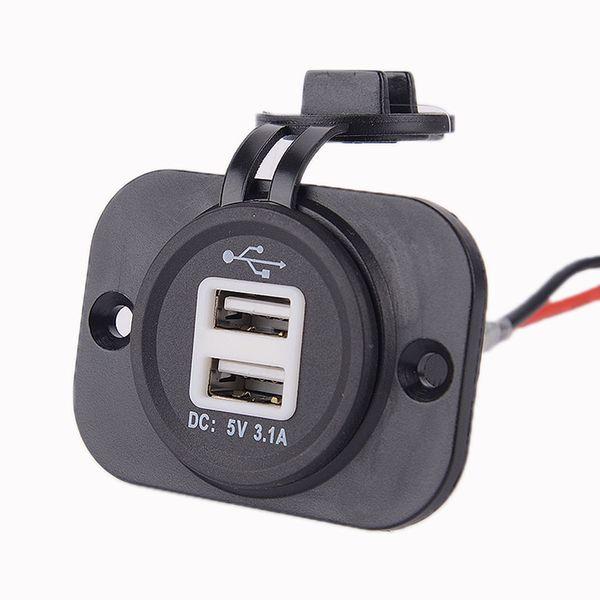 Acessoires électriques de voiture d'intérieur Portable Câblée Les états unis DC5V ABS rouge