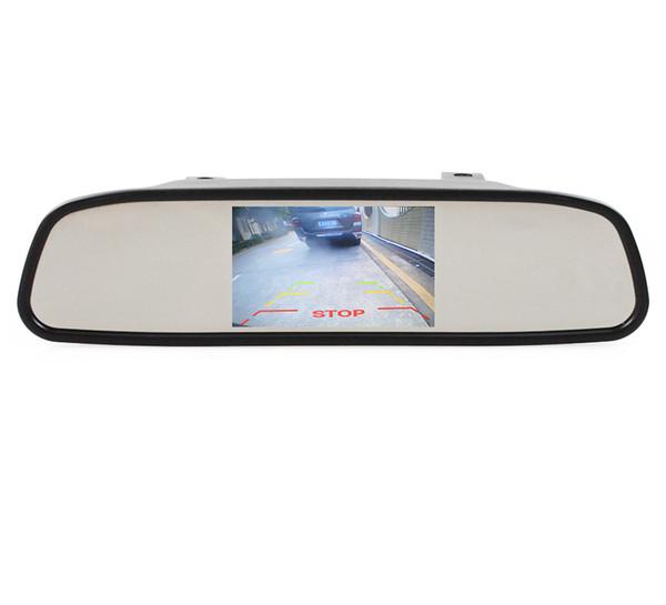4.3 polegadas TFT LCD Monitor de Espelho Retrovisor Monitor Do Carro Acessórios Interiores para Kit Sistema de Assistência de Estacionamento