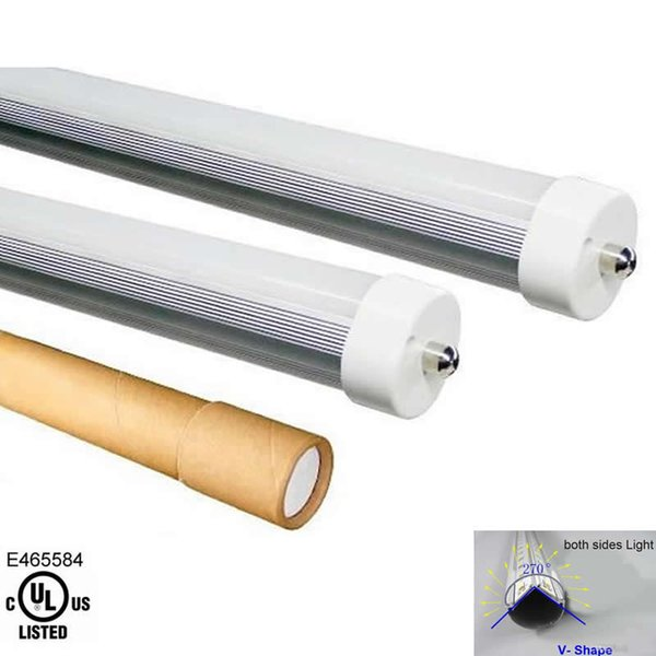 V-Shape 3ft 4ft 5ft 6ft 8ft Led Tube Light T8-FA8 Led Tubes Double Sides SMD2835 Led Fluorescent Lights AC85-265V CE UL SAA