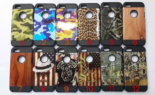 hot colorful armor Case For Iphone 7 Slim Armor case For iphone 6 2in1tpu and plastic Hybrid back Case free shipping