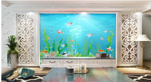 Underwater World Marine Sea Museum Tv Backdrop Wallpaper For Walls