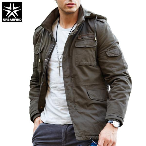 Wholesale- URBANFIND New Fashion Men Spring Jacket Large Size M-4XL Hooded Style Man Thin Coats Spring Autumn Men Windbreaker