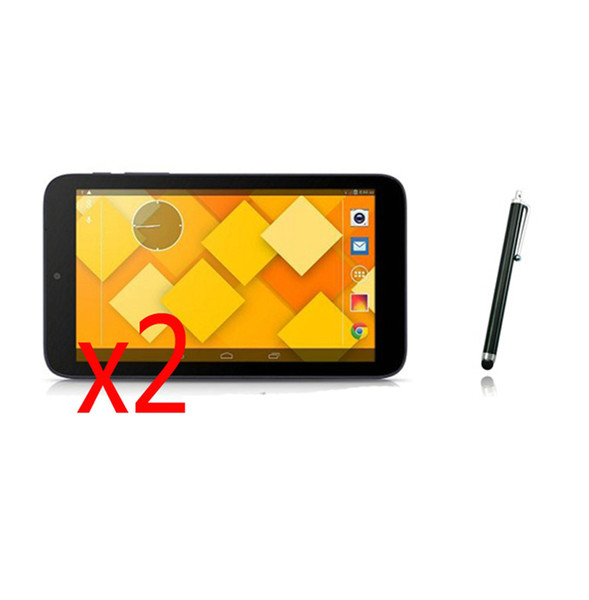 """Wholesale- 3in1 2x Clear LCD Screen Protector Films Protective Film Guards +1x Stylus Pen For Alcatel One Touch Pixi 3 7.0 9002X 7"""" Tablet"""
