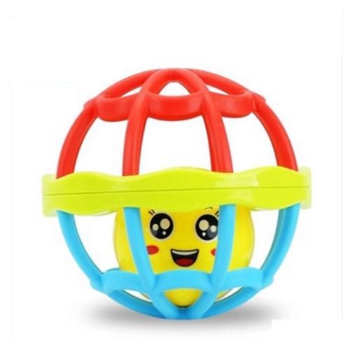 2 stücke FlyingTown Schöne Lustige Baby Rasseln Kunststoff Neuheit Hand Schütteln Glocke Ring Frühes Lernen Lernspielzeug Rasseln spielzeug Baby