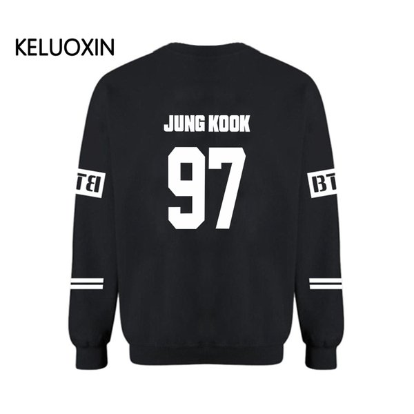 Wholesale- KELUOXIN Streetwear Plus Size XXXXL Capless Hot Kpop BTS Bangtan Boys Hoodies For Women Men Unisex Sweatshirt hoody Clothing