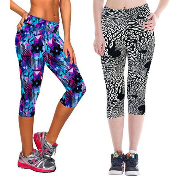 top popular High Quality Jogger Wear Yoga Wear Capri Pants 3 4 Yoga Leggings 2019