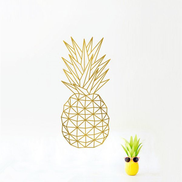 Geometric Pineapple Wall Decal Sticker Home Decor - Pineapple Vinyl Art Mural Geometric Fruit Kitchen Decals