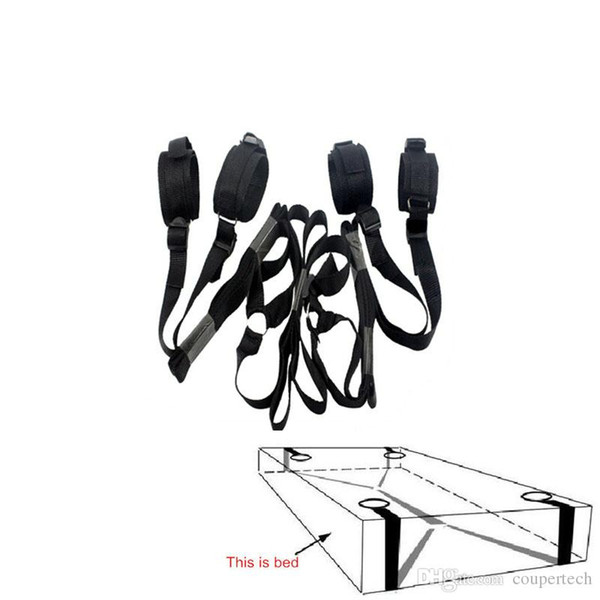 top popular Erotic Toys Under Bed Restraint Bondage Fetish Sex Products Handcuffs & Ankle Cuff Bdsm Bondage Sex Toys For Couples Adult Games 2019