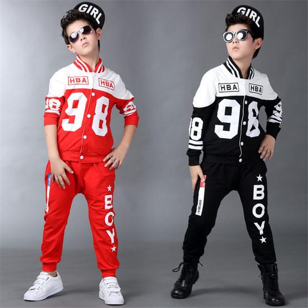 Ropa de niños conjunto vestido de campus 4-11T niños ropa de niños ropa carta de algodón para niños disfraz adolescente traje 2pcs chándal