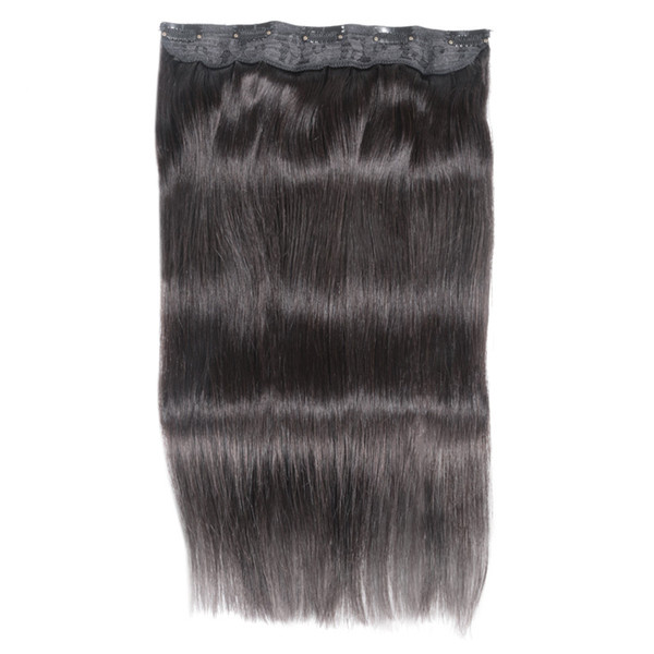 "ELIBESS Hair - 14""-24"" Straight Full Head Clip in Machine Made Remy Hair Extensions 100g 5 Clips in 1 piece Human Hair"