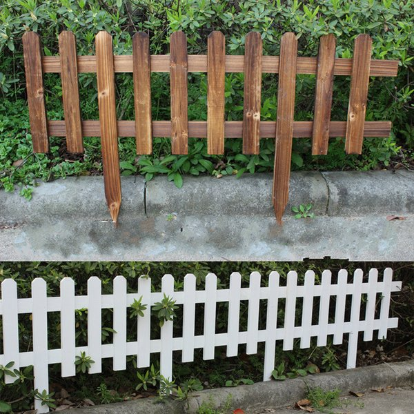 2019 Garden Fencing Trellis Antiseptic Wooden Fence Solid Wood Guardrail Courtyard Greening Wedding Garden Flower Beds Decorations 60x35x20cm Dhl From