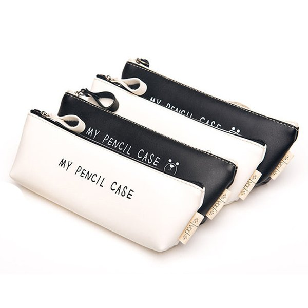My Pencil Case Pu Leather Pencil Case Stationery Storage Organizer Bag School Office Supply Gift Stationery