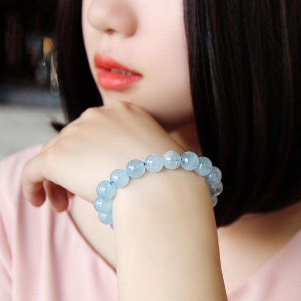 Espèces de glace Sea Blue Treasure Hommes et femmes Bracelet en cristal