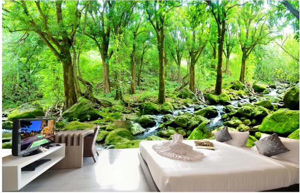 Hd Oil Painting Forest Landscape Background Wall Mural 3d Wallpaper 3d Wall Papers For Tv Backdrop Natural Wallpapers Nature Desktop Wallpaper From