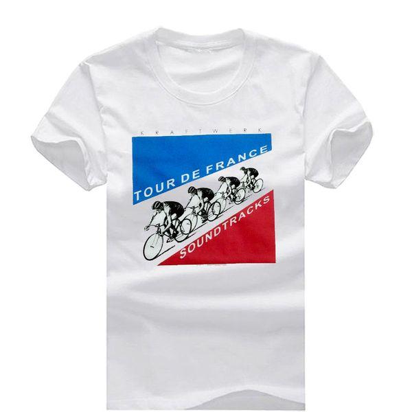 Kraftwerk Tour De France Nouvelle Mode Hommes T-shirts À Manches Courtes Tshirt Coton T-shirts Homme Vêtements Livraison Gratuite