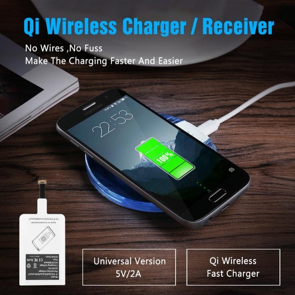 Universal Qi Wireless Charger Original Charging Pad + Receiver For Samsung S7 S6 edge s8 plus Note 5 Wireless Charging For iPhone 8 5S 6 7