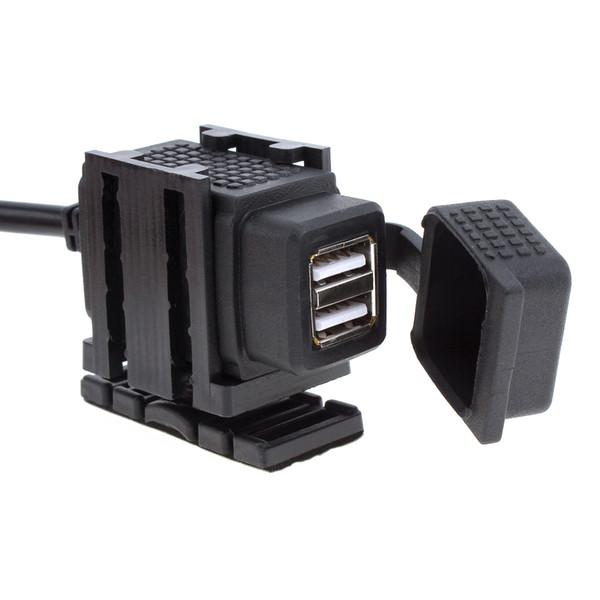 Porta USB dupla 12 V À Prova D 'Água Moto Motocicleta Guiador Carregador Adaptador Tomada de Alimentação para o Telefone GPS MP4 MOT_30M