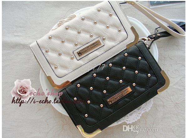 KK Brieftasche Kim Kardashian Kollektion lange Brieftasche PU weiß und schwarz kk Frauen Brieftaschen Mode Geldbörse carteira feminina