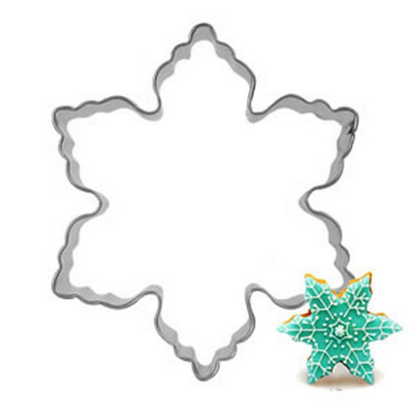 Wholesale- Christmas Snowflake Stainless Steel Cookies Molds Mousse Ring Fruit Cutters DIY Baking & Pastry Tools A210
